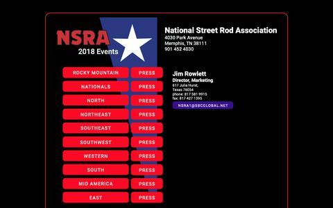 Screenshot of Press Page nsra-usa.com - Contact Media - captured Dec. 12, 2018