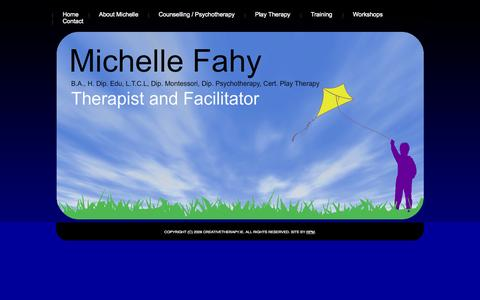 Screenshot of Home Page creativetherapy.ie - Creative Therapy with Michelle Fahy, Limerick, Ireland. - captured Oct. 5, 2014
