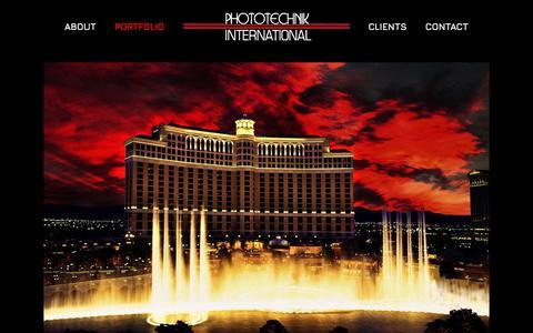 Screenshot of Products Page phototechnik.com - Commercial - Phototechnik International - captured Sept. 24, 2018