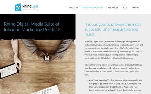 Screenshot of Products Page rhinopros.com - Inbound Marketing | Fast Track Branding | SMART Sales Website™ - captured Sept. 26, 2018