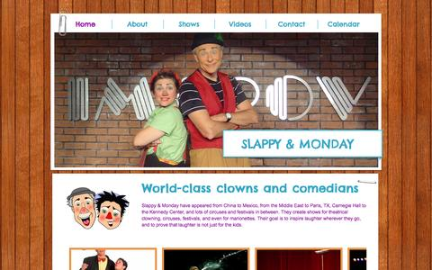 Screenshot of Home Page slappyandmonday.com - slappyandmonday - captured Oct. 8, 2014