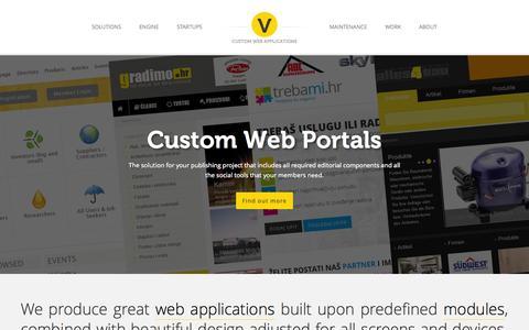 Screenshot of Home Page vigoran.com - Web Application Development - Vigoran Web Hub Factory - captured Aug. 14, 2015