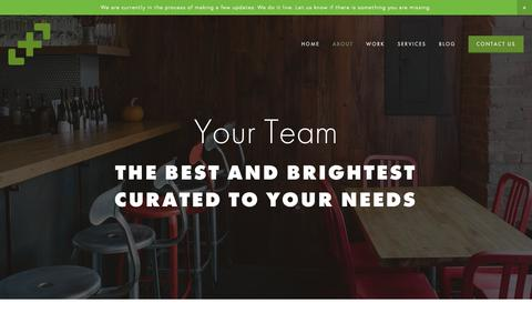 Screenshot of Team Page thejuncture.com - Team — Juncture - captured Oct. 14, 2018