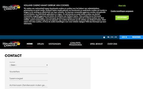 Contact - Holland Casino