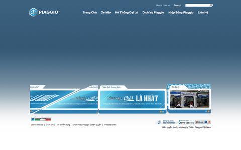 Screenshot of Home Page piaggio.com.vn - Piaggio Vietnam - captured Sept. 19, 2014