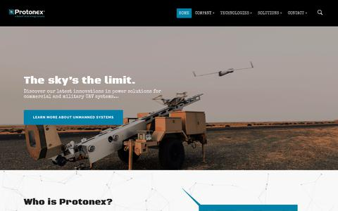 Screenshot of Home Page Team Page protonex.com - Protonex | A Ballard Smart Energy Company - captured Jan. 5, 2018