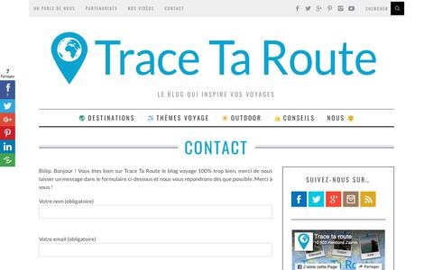 Screenshot of Contact Page trace-ta-route.com - Contacter Trace Ta Route - captured Oct. 19, 2018