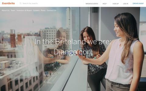 Screenshot of Jobs Page eventbrite.com - Eventbrite - Join the Briteland - captured Feb. 11, 2017