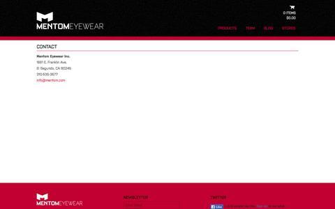 Screenshot of Contact Page mentom.com - Contact - mentom.com - captured Oct. 4, 2014