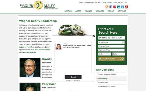 Screenshot of Team Page wagnerrealty.com - Wagner Realty Leadership - captured June 17, 2017