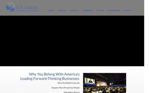 Screenshot of Home Page usgreenchamber.com - U.S. Green Chamber of Commerce - captured Nov. 15, 2016