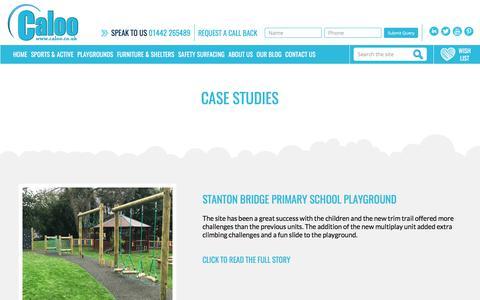 Screenshot of Case Studies Page caloo.co.uk - Case Studies | Caloo Ltd - captured Oct. 20, 2017