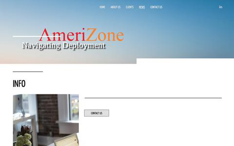 Screenshot of Press Page amerizone.com - Info | Navigating Deployment - captured Oct. 3, 2018