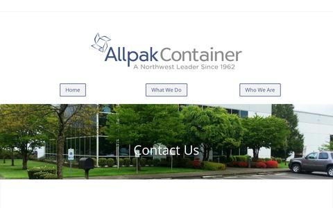Screenshot of Contact Page Locations Page allpak.com - Contact-New - Allpak Container - captured Oct. 8, 2017