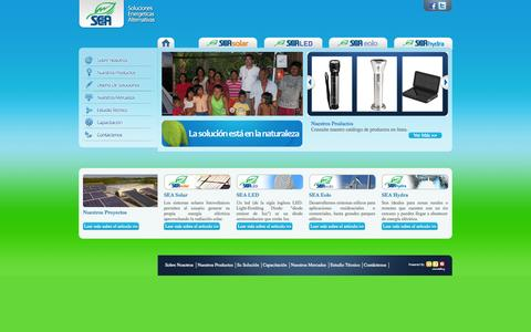 Screenshot of Home Page grupo-sea.com - Sea - captured Oct. 3, 2014