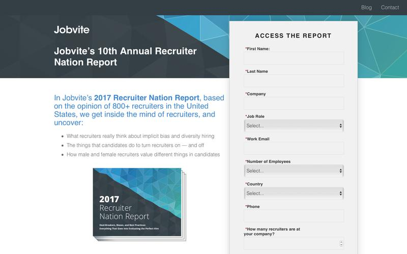 Jobvite's 10th Annual Recruiter Nation Survey Results