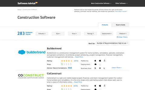 Top Construction Software - 2017 Reviews, Pricing & Demos