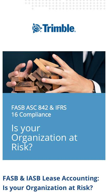 FASB/IASB - Is your organization at risk?