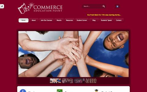Screenshot of Home Page commerceeducationpoint.com - Commerce Education Point - captured Oct. 2, 2014