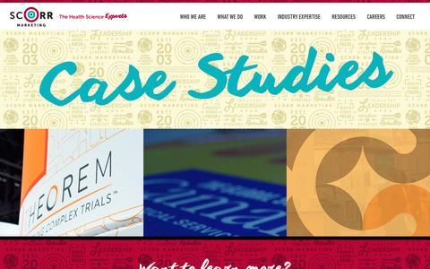 Screenshot of Case Studies Page scorrmarketing.com - Case Studies - SCORR Marketing - captured May 26, 2017