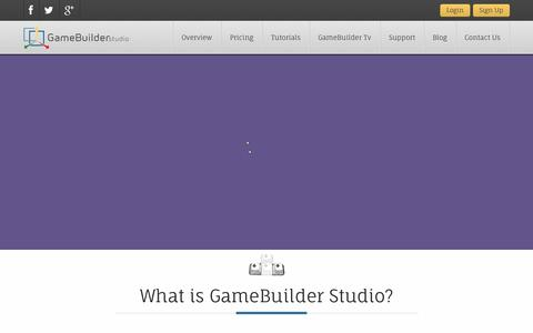"Screenshot of Home Page gamebuilderstudio.com - GameBuilder Studio | Create Once, Deploy ""Consistently"" Everywhere! - captured Sept. 16, 2014"