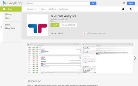 Screenshot of Android App Page google.com - TeleTrade Analytics - Android Apps on Google Play - captured Oct. 25, 2014