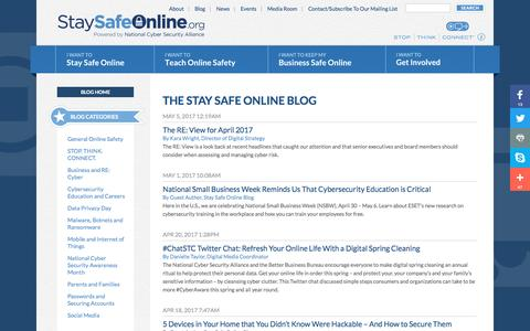 The Stay Safe Online Blog | StaySafeOnline.org