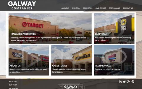 Screenshot of Home Page galwaycompanies.com - Galway Companies   Shopping Center Management - captured Jan. 26, 2016