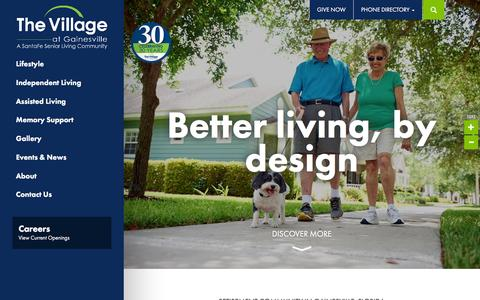 Screenshot of Home Page thevillageonline.com - The Village at Gainesville | Retirement Community in FL - captured Feb. 15, 2016