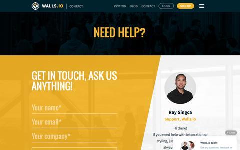 Screenshot of Contact Page walls.io - Contact – Walls.io - captured July 20, 2016