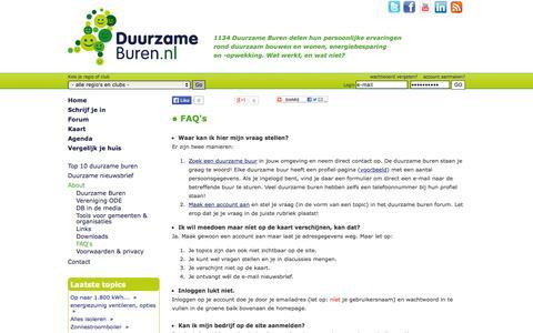 Screenshot of FAQ Page duurzameburen.nl - FAQ's - Duurzame Buren - captured Sept. 30, 2014