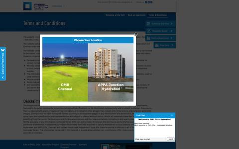 Screenshot of Terms Page pbelcity.in - Terms & Conditions - Apartments in Hyderabad, Chennai | PBEL City - captured Feb. 17, 2016