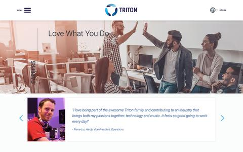 Screenshot of Jobs Page tritondigital.com - Triton Digital - Careers - captured July 9, 2019