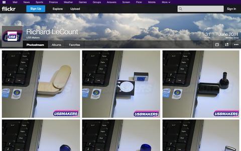 Screenshot of Flickr Page flickr.com - Flickr: USB Makers' Photostream - captured Oct. 26, 2014
