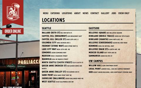 Screenshot of Locations Page pagliacci.com - All | Pagliacci Pizza - captured Sept. 26, 2018