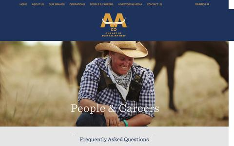 Screenshot of FAQ Page aaco.com.au - Frequently asked questions - AACo - captured July 23, 2016