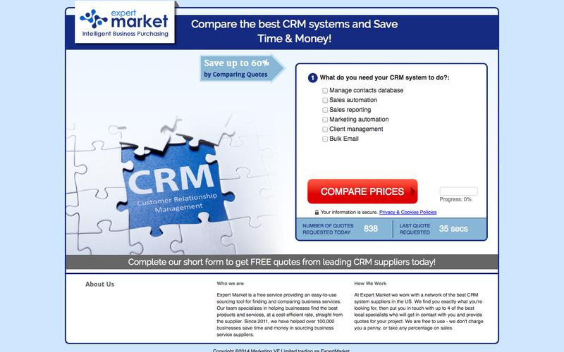 Compare CRM System Prices! | Expert Market US