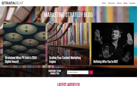 Screenshot of Blog stratabeat.com - The Marketing Strategy Blog | Stratabeat - captured Oct. 30, 2014