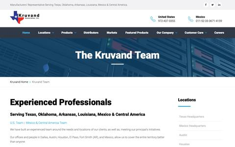 Screenshot of Team Page kruvand.com - Kruvand Team - captured Oct. 16, 2018