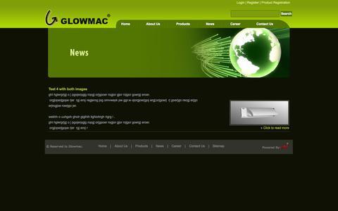Screenshot of Press Page glowmac.com - News and Updates at Glomac - captured Oct. 3, 2014