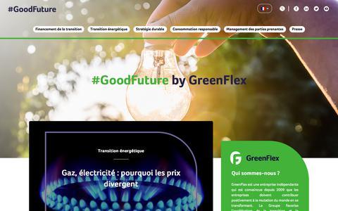 Screenshot of Blog greenflex.com - GoodFuture by GreenFlex - captured July 15, 2018