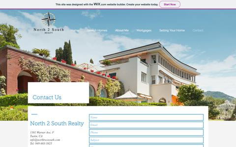 Screenshot of Contact Page wixsite.com - North 2 Sourth Realty | Contact - captured Oct. 19, 2018