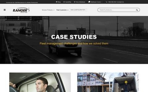 Screenshot of Case Studies Page rangerdesign.com - Case Studies For Fleet Management | Ranger Design - captured Oct. 18, 2018