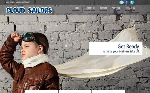 Screenshot of Home Page cloudsailors.com - Cloud Sailors - captured Sept. 19, 2014