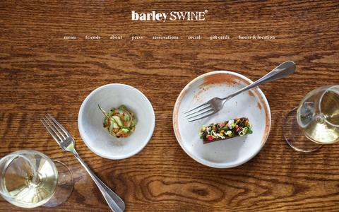 Screenshot of Home Page barleyswine.com - Barley Swine - captured Nov. 3, 2015