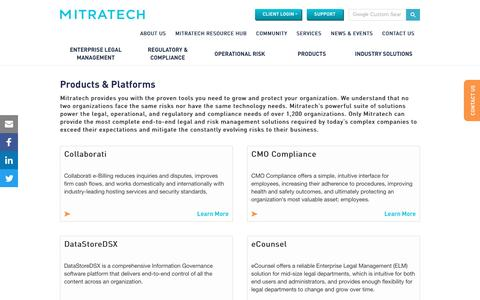 Screenshot of Products Page mitratech.com - Products - Mitratech - captured March 10, 2017