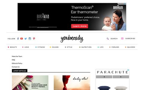 Screenshot of About Page youbeauty.com - About Us - YouBeauty - captured Jan. 13, 2016