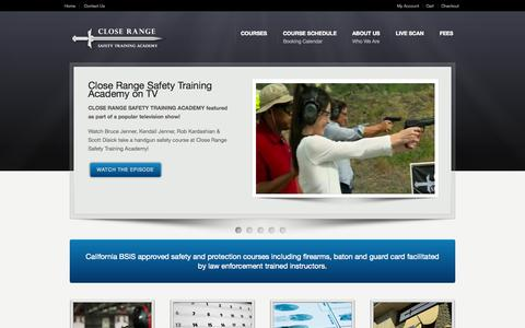 Screenshot of Home Page closerangetraining.com - Home - Close Range Safety Training Academy - captured Oct. 2, 2014