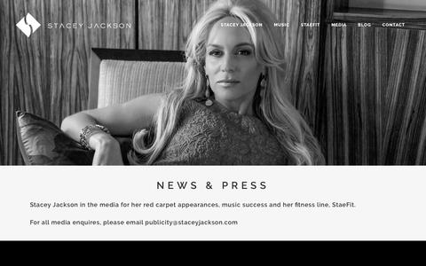 Screenshot of Press Page staceyjackson.com - Media - Stacey Jackson - captured March 12, 2016