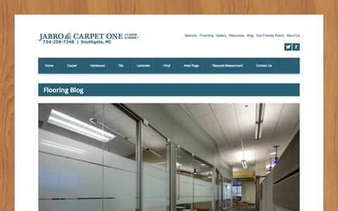 Screenshot of Blog jabrocarpetone.com - Flooring Blog −  Jabro Carpet One Floor & Home - captured Oct. 6, 2014